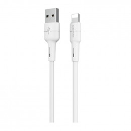 Кабель Borofone BX30 Silicone charging data cable for Lightning White