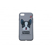 Чехол для iPhone 7 Supreme boston terrier