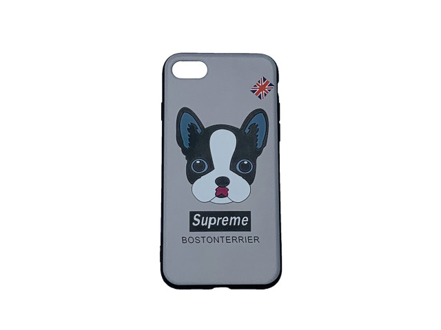 Чехол для iPhone 7 Supreme boston terrier на маркете Чехольня